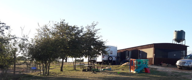 off grid living at Sparrow Farms